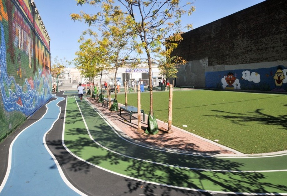 School Playground used as community park